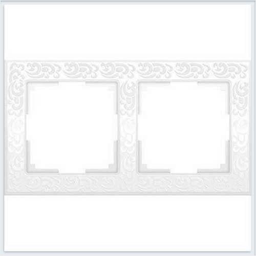 Рамка на 2 поста белая Werkel (Веркель) Коллекция Flock - WL05-Frame-02