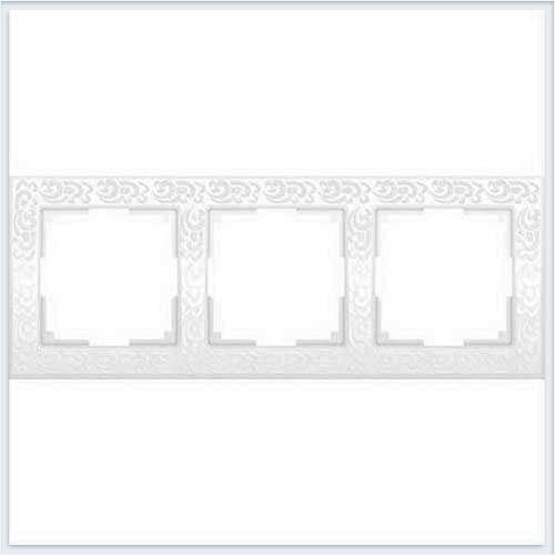 Рамка на 3 поста белая Werkel (Веркель) Коллекция Flock - WL05-Frame-03