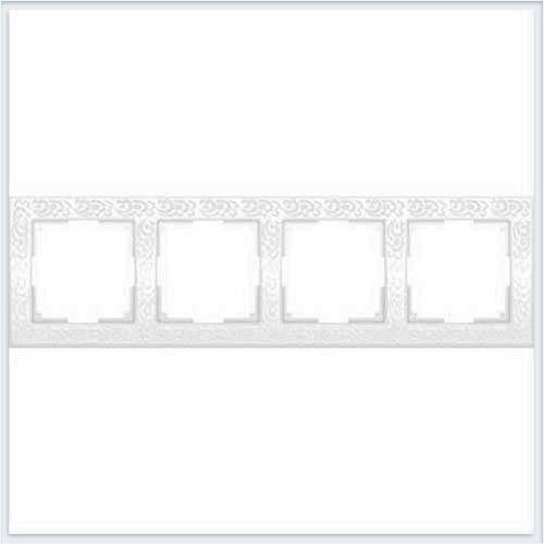 Рамка на 4 поста белая Werkel (Веркель) Коллекция Flock - WL05-Frame-04