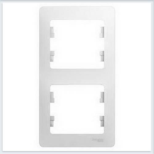Рамка 2-я, вертикальная Glossa Белый GSL000106