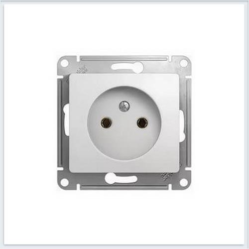 Розетка без заземления Glossa Белый GSL000141