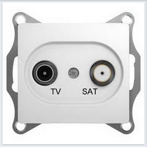 TV-SAT Розетка одиночная 1DB Glossa Белый GSL000197