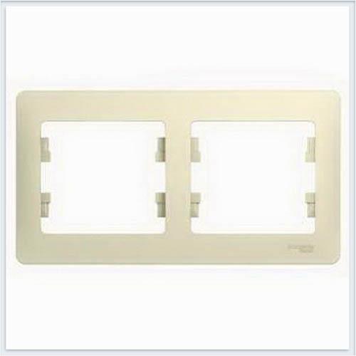 Рамка 2-я, горизонтальная Glossa Бежевый GSL000202