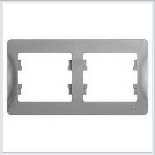Рамка 2-я, горизонтальная Glossa Алюминий GSL000302