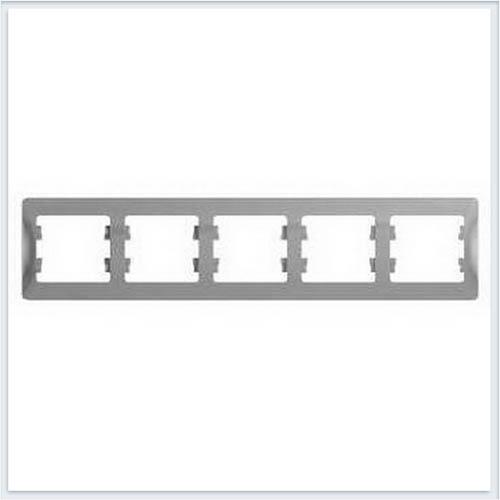 Рамка 5-я, горизонтальная Glossa Алюминий GSL000305