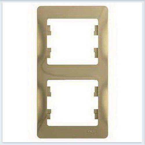 Рамка 2-я, вертикальная Glossa Титан GSL000406