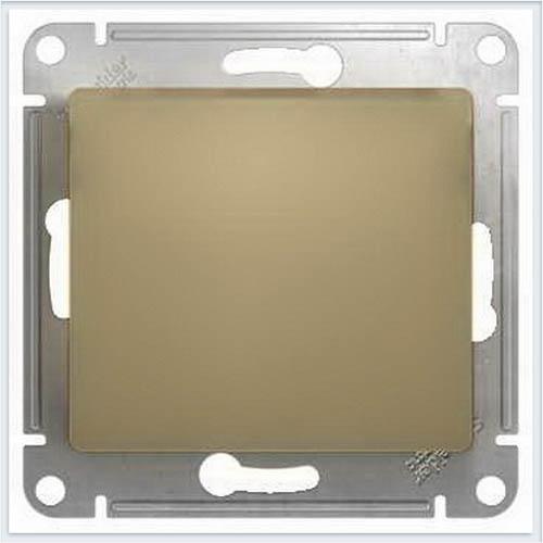 Переключатель 1-клавишный с подсветкой, сх.6а Glossa Титан GSL000463