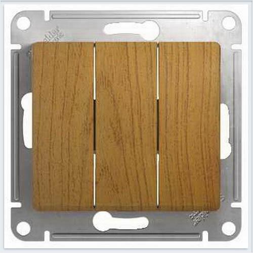 Выключатель 3-клавишный Дерево Дуб GSL000531