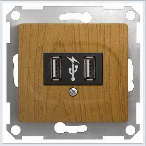 USB Розетка Дерево Дуб GSL000532