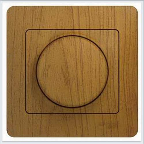 Светорегулятор (диммер) поворотный, 300Вт (в сборе с рамкой) Дерево Дуб GSL000534