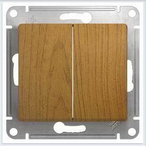 Переключатель 2-клавишный Дерево Дуб GSL000565