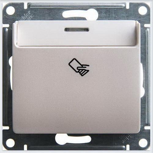 Выключатель карточный Glossa Перламутр  GSL000669