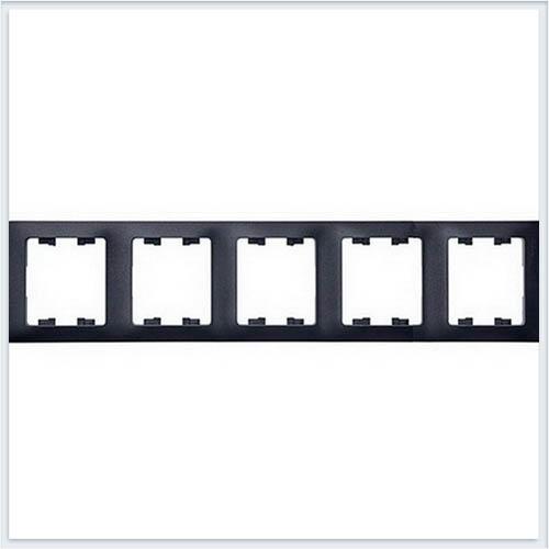 Рамка 5-я, горизонтальная Glossa Антрацит GSL000705