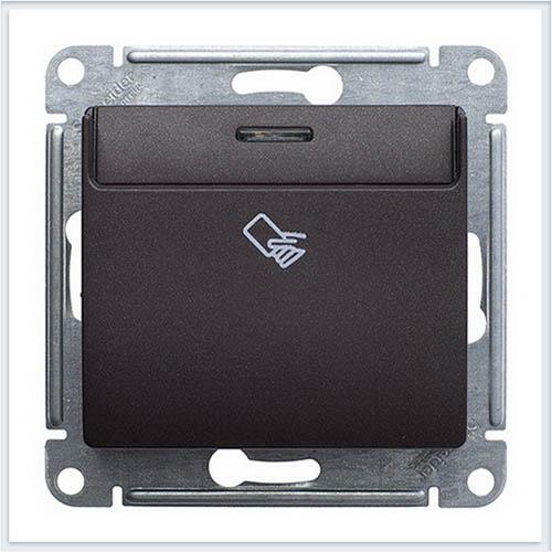 Выключатель карточный Glossa Антрацит GSL000769