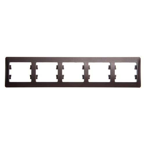 Рамка 5-я, горизонтальная, Glossa Шоколад GSL000805