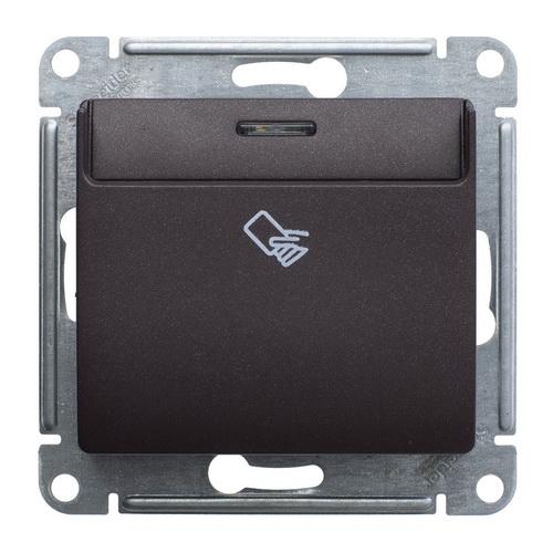 Выключатель карточный Glossa Шоколад GSL000869