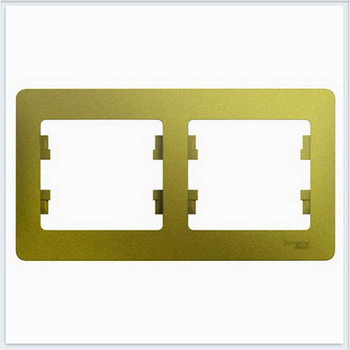 Рамка 2-ая, горизонтальная Glossa Фисташковый  GSL001002