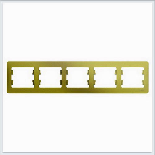 Рамка 5-ая, горизонтальная Glossa Фисташковый  GSL001005