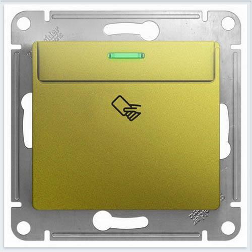 Выключатель карточный Glossa Фисташковый  GSL001069