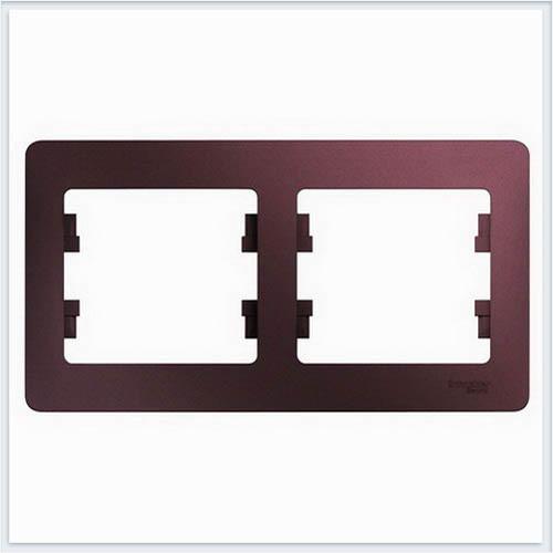 Рамка 2-ая , горизонтальная Glossa Баклажановый  GSL001102
