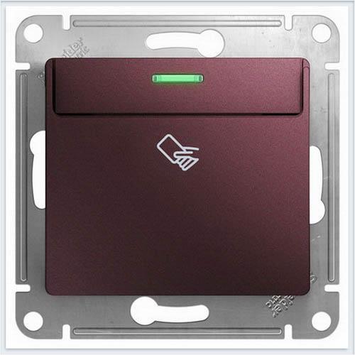 Выключатель карточный Glossa Баклажановый  GSL001169