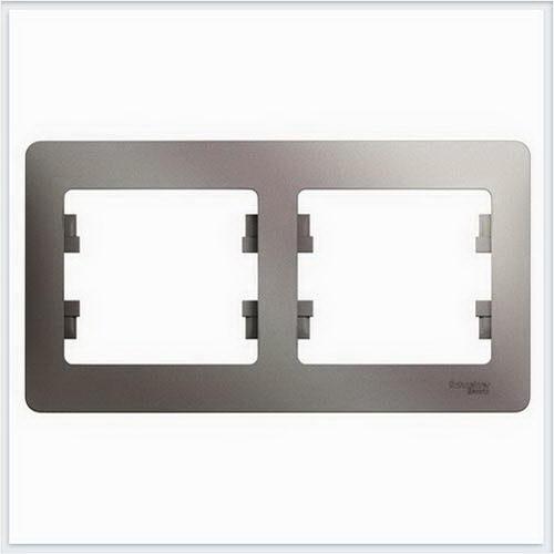 Рамка 2-ая горизонтальная Glossa Платина  GSL001202