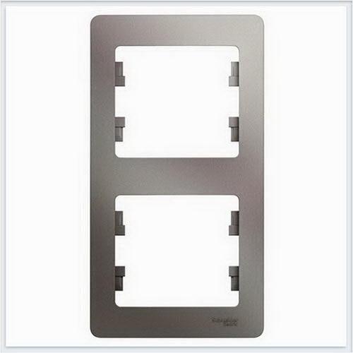 Рамка 2-ая, вертикальная Glossa Платина  GSL001206