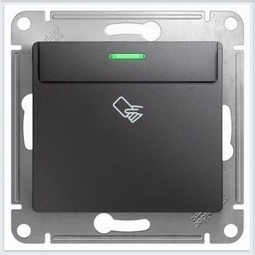 Выключатель карточный Glossa Графит  GSL001369