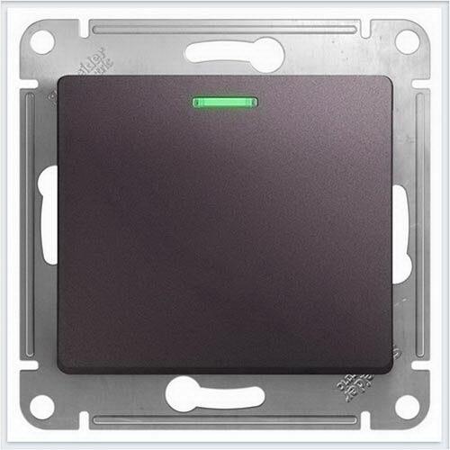 Переключатель 1-клавишный с подсветкойа Glossa Сиреневый туман  GSL001463