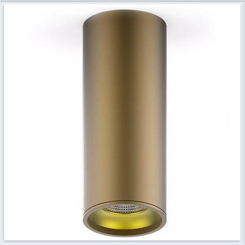 Светильник накладной HD002 12W кофе золотом
