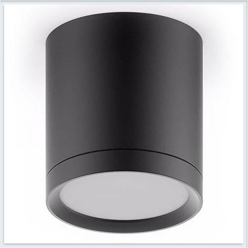Светильник накладной с рассеивателем HD015 6W черный