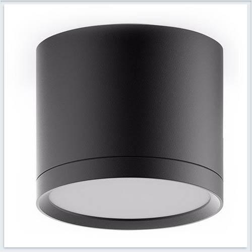 Светильник накладной с рассеивателем HD017 10W черный