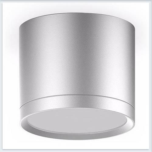 Светильник накладной с рассеивателем HD020 10W хром сатин
