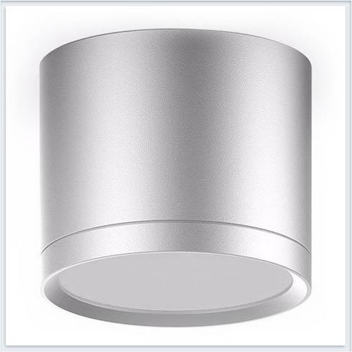 Светильник накладной с рассеивателем HD021 10W хром сатин