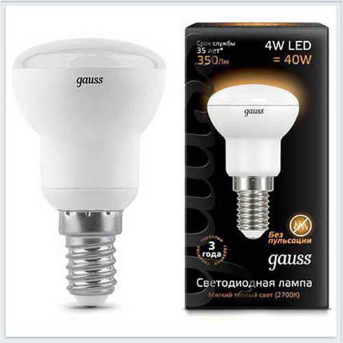 Лампа Gauss Лампа зеркальная LED R39 E14 4W 2700K - 106001104