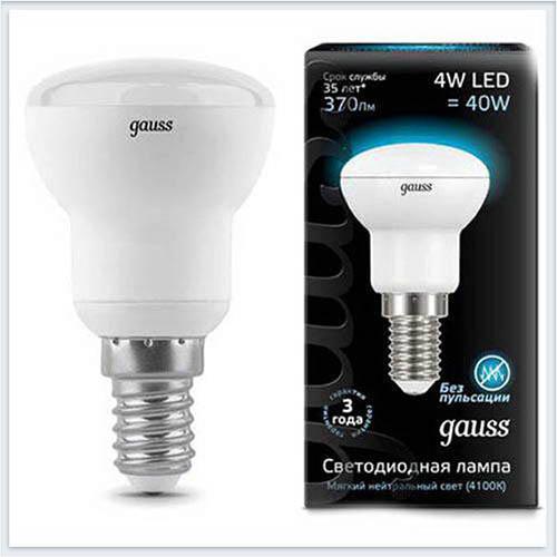 Лампа Gauss Лампа зеркальная LED R39 E14 4W 4100K - 106001204