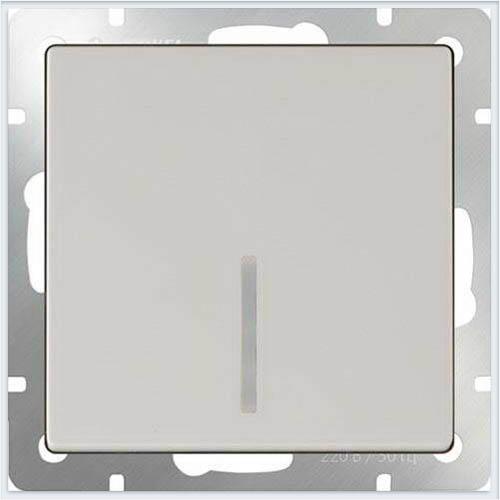Выключатель одноклавишный с подсветкой LED - слоновая кость Werkel (Веркель) - WL03-SW-1G-LED-ivory