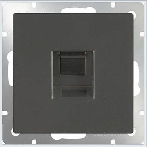 Розетка Ethernet RJ-45 - серо-коричневый Werkel (Веркель) - WL07-RJ-45