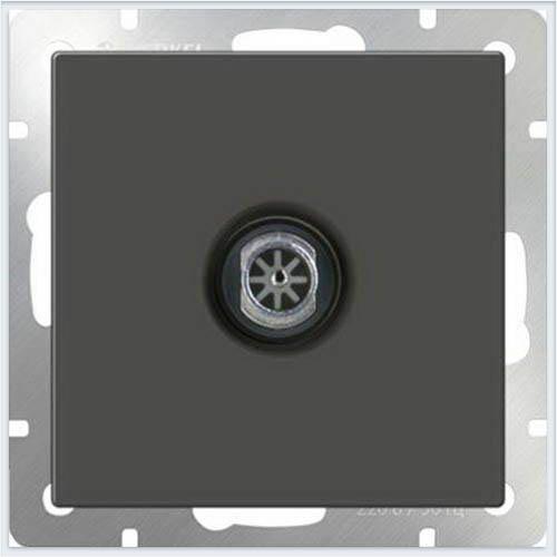 ТВ-розетка оконечная - серо-коричневый Werkel (Веркель) - WL07-TV/ТВ