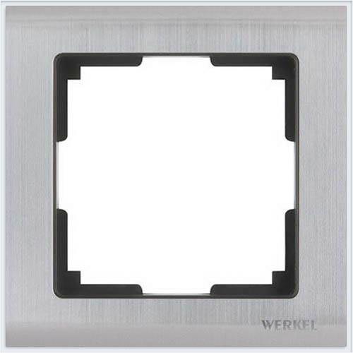 Рамка на 1 пост глянцевый никель Werkel (Веркель) Коллекция Metallic - WL02-Frame-01