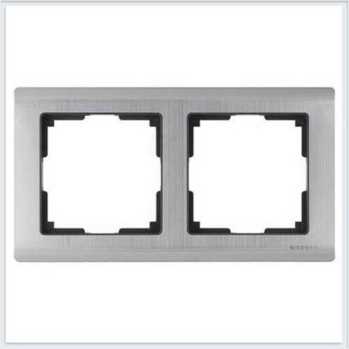 Рамка на 2 поста глянцевый никель Werkel (Веркель) Коллекция Metallic - WL02-Frame-02