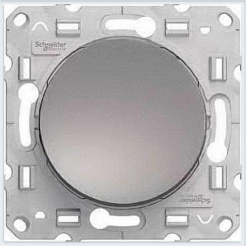 Переключатель 1-клавишный Алюминий Schneider-Electric Коллекция Odace арт. S53R203