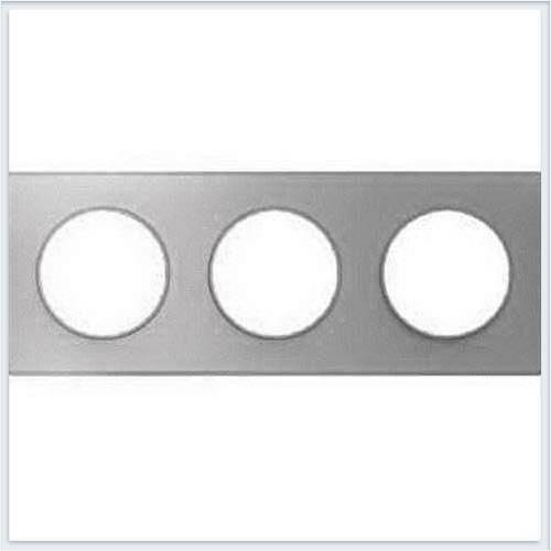 Рамка 3-я Алюминий Schneider-Electric Коллекция Odace арт. S53P806