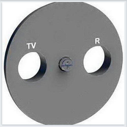 Накладка R-TV/SAT Алюминий Schneider-Electric Коллекция Odace арт. S53R441
