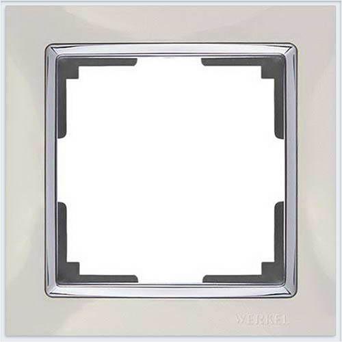 Рамка на 1 пост слоновая кость Werkel (Веркель) Коллекция Snabb - WL03-Frame-01