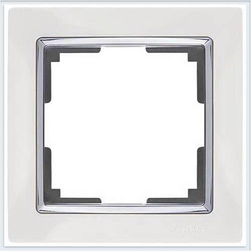 Рамка на 1 пост белая Werkel (Веркель) Коллекция Snabb - WL03-Frame-01