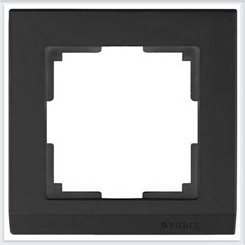Рамка на 1 пост черная Werkel (Веркель) Коллекция Stark - WL04-Frame-01