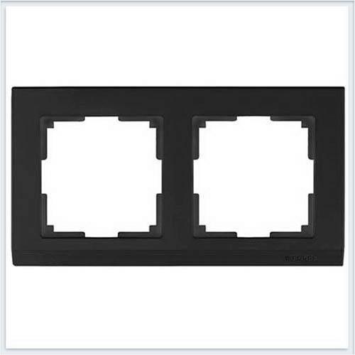 Рамка на 2 поста черная Werkel (Веркель) Коллекция Stark - WL04-Frame-02