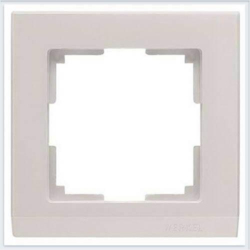 Рамка на 1 пост слоновая кость Werkel (Веркель) Коллекция Stark - WL04-Frame-01