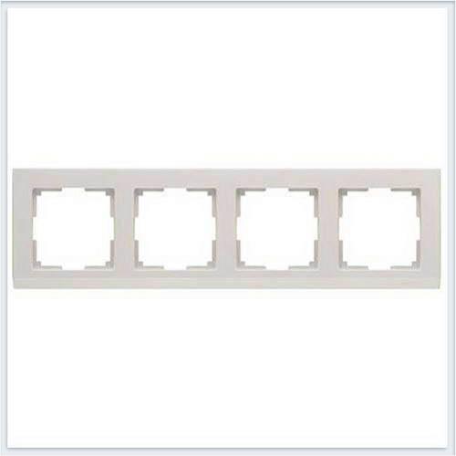 Рамка на 4 поста слоновая кость Werkel (Веркель) Коллекция Stark - WL04-Frame-04